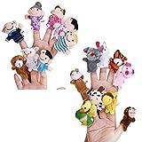 Pixnor 18pcs Finger Puppet Set Stofftier Kinder lernen spielen Geschichte