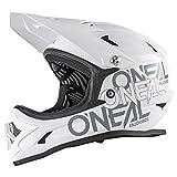 O'Neal Backflip RL2 Solid Fahrrad Helm Downhill MTB Mountain Bike FR DH Fullface, 0500-S1, Farbe Weiß, Größe L