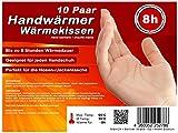 M&H-24 Handwärmer Fingerwärmer Skifahren, Ideal für Handschuhe und Hosentaschen, Warmes Wärmekissen Wärmepad 8h Wärme von 55°C, 10 Paar
