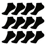 12 Paar L&K Herren Sneaker-Socken Füßlinge 43/46 schwarz1