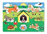 Melissa & Doug Steckpuzzle aus Holz - Haustiere (8 Teile)