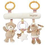Fehn 160987 Activity-Trapez Rainbow - Stoff-Trapez zum Greifen, Fühlen, Spielen für Zuhause oder unterwegs - Für Babys und Kleinkinder ab 0+ Monaten - Maße: 27cm lang