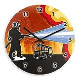 Wanduhr mit Feuerwehr-Motiv für Jungen | Kinderzimmer-Uhr | Kinder-Uhr