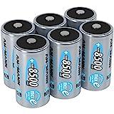 ANSMANN  LSD Mono D Akkubatterie  1 2 V / Typ 8500mAh / Hochkapazitiver NiMH Akku mit konstant hoher Leistungsabgabe & Langlebigkeit - ideal für Geräte mit hohem Stromverbrauch  6 Stück