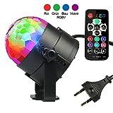 Diskokugel Disco Lichteffekte - InnooLight (2. Generation), LED Partylicht Licht RGBV 12 Farbe Kristall Stimmenaktiviert Bühnenbeleuchtung DJ Lampe Ball für Party, Hochzeit, Weihnachten, Club