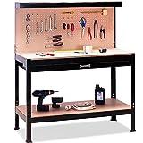 Werkbank Deuba | XXL 150x120x60cm | Lochwand | Profi Ausführung - Werkstatttisch Packtisch Werktisch Werkzeugwand