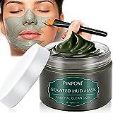 Mud Mask, Gesichtsmaske, Thalasso Maske, Pflege Für Trockene Und Unreine Haut, Reinigung Bei Pickel, Mitesser, Akne, Anti Aging Maske, 120g