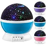 Next Generation 360° LED Starlight, Sternenlicht Projektor Sternen Einschlafhilfe Baby Nachtlicht für Kinder - blau