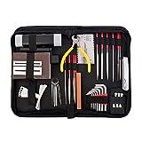 TOOGOO Gitarrenreparatur und -pflege Zubehoer-Kit - Komplettes Pflege-Set fuer Ukulele & Bass. Gitarrenkit mit praktischem Koffer