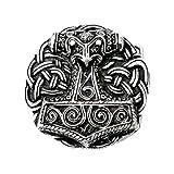 Gürtelschnalle - Thorshammer aus Schonen - Wikinger - Thor - Odin - Hammer Farbe silber