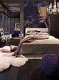 Komar - Vlies Fototapete LACE - 184 x 248 cm - Tapete, Wand, Dekoration, Wandbelag, Wandbild, Wanddeko, Frauengesicht, Schlafzimmer, Romantik - XXL2-012