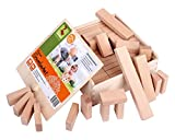 CreaBLOCKS Holzbausteine Kleines Grundpaket (66 unbehandelte Bauklötze) (in der Schiebedeckelkiste)