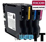 Ricoh SG41 Multipack - je 1x black, cyan, magenta und yellow Originalpatrone - GC41MP für Ricoh Aficio SG 3100 snw, SG 3110 dn, SG 3110 dnw, SG 3110 n, SG 3110 sfnw, SG 7100 dn, SG-K 3100 dn Drucker