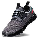 Wonesion Herren Fitness Laufschuhe Atmungsaktiv Rutschfeste Mode Sneaker Sportschuhe,   40 EU,   1-grau