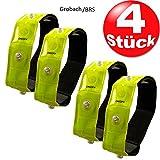 4x Sicherheits Reflektorbänder Reflektorstreifen LED Fahrrad Sicherheits Armreflektoren 23x 2,5 cm