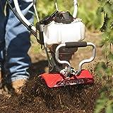 Mantis 7265-4- Benzin Gartenfräse/Kultivator Deluxe Takt-Honda-Motor, 25 ccm, 4 Fräsmesser, zum Hacken umkehrbar, Arbeitsbreite 23cm, Arbeitstiefe bis zu 25 cm, 12 Kg