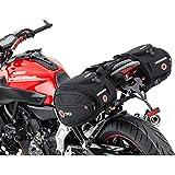 QBag Satteltaschen Motorrad Gepäck Satteltaschenpaar Motorradgepäck, 22 Liter Stauraum (2x11 l), Regenhaube, universell für fast jedes Modell, schwarz