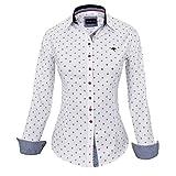 HEVENTON Hemdbluse Bluse Damen Langarm in Weiß von Größe 34 bis 42 - Elegant und Hochwertig 1174 Color Weiß, Size 36