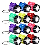 Schramm 12er Pack Schlüsselanhänger Taschenlampe mit Griff Mini LED-Taschenlampe Lampe Taschenlampen Lampen Kinder Kindertaschenlampen
