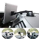 PLDHPRO Kfz-Halterung für Armaturenbrett, Windschutzscheiben-Halterung, 360 ° drehbar, super starker Magnet, TPU-Saugnapf, waschbar, stark klebrig Gel, für iPhone iPad Größe 6Zoll-10.5Zoll Tablet