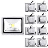 9x20W LED Lampe Scheinwerfer Fluter Licht Kaltweiß in silber grau Flutlicht Innen-Außenstrahler Strahler IP65 wasserdicht Flutbeleuchtung (9)