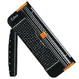 Cobee Papierschneider Schneidemaschine A4 Tragbar Schneidegerät mit Fingerschutz und Gleitlineal Design Schneidet bis zu 12 Blattes (70g/sm)