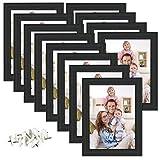 Giftgarden Bilderrahmen 13x18 Schwarz mit Glasscheibe 12er Set Fotorahmen mehrere Bilder Geschenk Friends