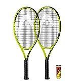 HEAD Extreme Junior 2 x Tennisschläger + 3 Balls and Protective Covers (Größe 19'-26' (26')