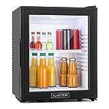 Klarstein MKS-13 Minibar Mini-Kühlschrank Getränkekühlschrank 32 Liter geringer Energieverbrauch leiser Betrieb 1 Regaleinschub höhenverstellbar Glastür schwarz