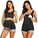 UNibelle Umstandstop Schwangerschafts- und Still Top Umstandsmode Unterwäsche schwarz M