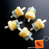 HURI 5 Stück Benzinfilter Kraftstofffilter für Roller Motorrad Quad 5mm / 6mm