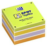 OXFORD 400096789 Spot Notes Würfel Zettelblock mit 450 Blatt bunt sortiert Haftnotizen Notizzettel Klebezettel 75x75mm SCRIBZEE kompatibel