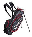 TaylorMade Golf 2018 Pro Stand 6.0 Stand Bag Mens Carry Bag 6 Way Divider Black/Charcoal/Red