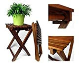 2er Set Klapphocker 'Lina' Beistelltisch Gartenhocker aus Eukalyptusholz
