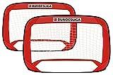 Bundesliga Pop-Up Fußballtor 2er-Set, inkl. Tragetasche, Faltbare Minitore, 120 x 80 x 80 cm