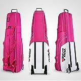 PGM Gepolsterte Travel Cover Bag mit Rollen --- kostenlos senden eine kleine Speicher Tasche, faltbar, Herren, white-rosered