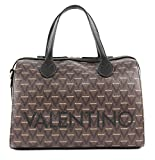 Mario Valentino Valentino by Damen Liuto Bowling Tasche, Braun (nero multicolor), 17x22x30.5 cm