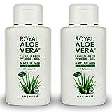 Royal Aloe Vera Premium Pflege Gel After Sun/Aftershave mit 92% Bio Aloe Vera und Schisandra (2)