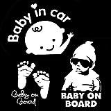 [3-in-1] Baby an Bord / Baby im Auto Abziehbilder