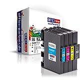 4er multiPack kompatible Druckerpatronen mit Chip zu Ricoh GC41 für Ricoh Lanier SG-3100 SG-7100 dn / Nashuatec SG-3110 / Aficio SG-3100 SG-3120 SG-7100 DN