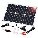 Suaoki Solar Autobatterie Panel Ladegerät 18W 18V Solarzelle Solarladegerät für Auto Boot RV Traktor Motorrad Automobil 12V Batterien
