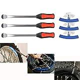 YOTINO Reifenheber Reifen Montiereisen Reifen Hebel Werkzeug Löffel + Rad Felge Protektoren für Motorrad Fahrrad Reifen wechseln/entfernen