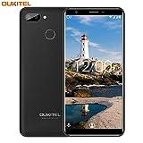 Smartphone ohne Vertrag,OUKITEL C11 Pro Android 8.1 Dual SIM 4G LTE Handy,5.5 zoll(18:9)Touchscreen 3400mAh Akku,3GB RAM+16GB ROM(Erweitern Sie 64G)8+2MP Hauptkamera,Fingerabdruck+Gesicht ID-Schwarz