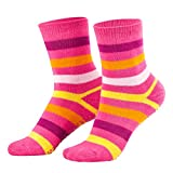 Piarini 2 Paar Kinder Stoppersocken ABS Socken Anti Rutschsocken Noppen Baumwolle Jungen Mädchen Pink Gr. 35 36 37 38