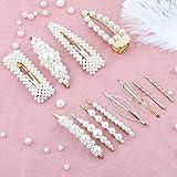 Perle Haarspange-12 PCS Perle Haarspange Haarnadeln Haarspange Hochzeit Brautjungfer Haarspangen Zubehör für Frauen von Makone