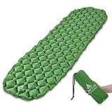 Camping Isomatte Kleines Packmaß von Hikenture - Ultraleichte Aufblasbare Isomatte - Sleeping Pad für Camping, Reise, Outdoor, Wandern, Strand (Grün)