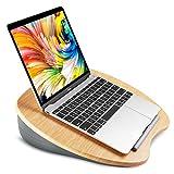 HUANUO Laptopkissen Bambus mit Kabelloch & Anti-Rutsch Streifen für max. 14 Zoll Notebook, MacBook, Tablet