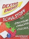 Dextro Energy Schulstoff Waldfrucht/Mini Traubenzucker-Täfelchen mit schnell verfügbarer Glucose und Prickel-Spaß, 6er Pack (6 x 50 g)