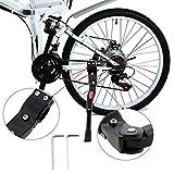 Fahrradständer, WisFox Fahrrad Seitenständer Faltbarer einstellbarer Universal Fahrrad Ständer Fahrradständer mit Anti-Rutsch Gummifuß Aluminiunlegierung für 24-29 Zoll Mountainbike, Rennrad, Fahrräd