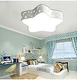 Deckenleuchte LED Deckenlampe 24W mit Star und Mond Design romantische Led Wandlicht Kinderlampe Kinderleuchte für Wohnzimmer Schlfzimmer Spielzimmer (weiß)